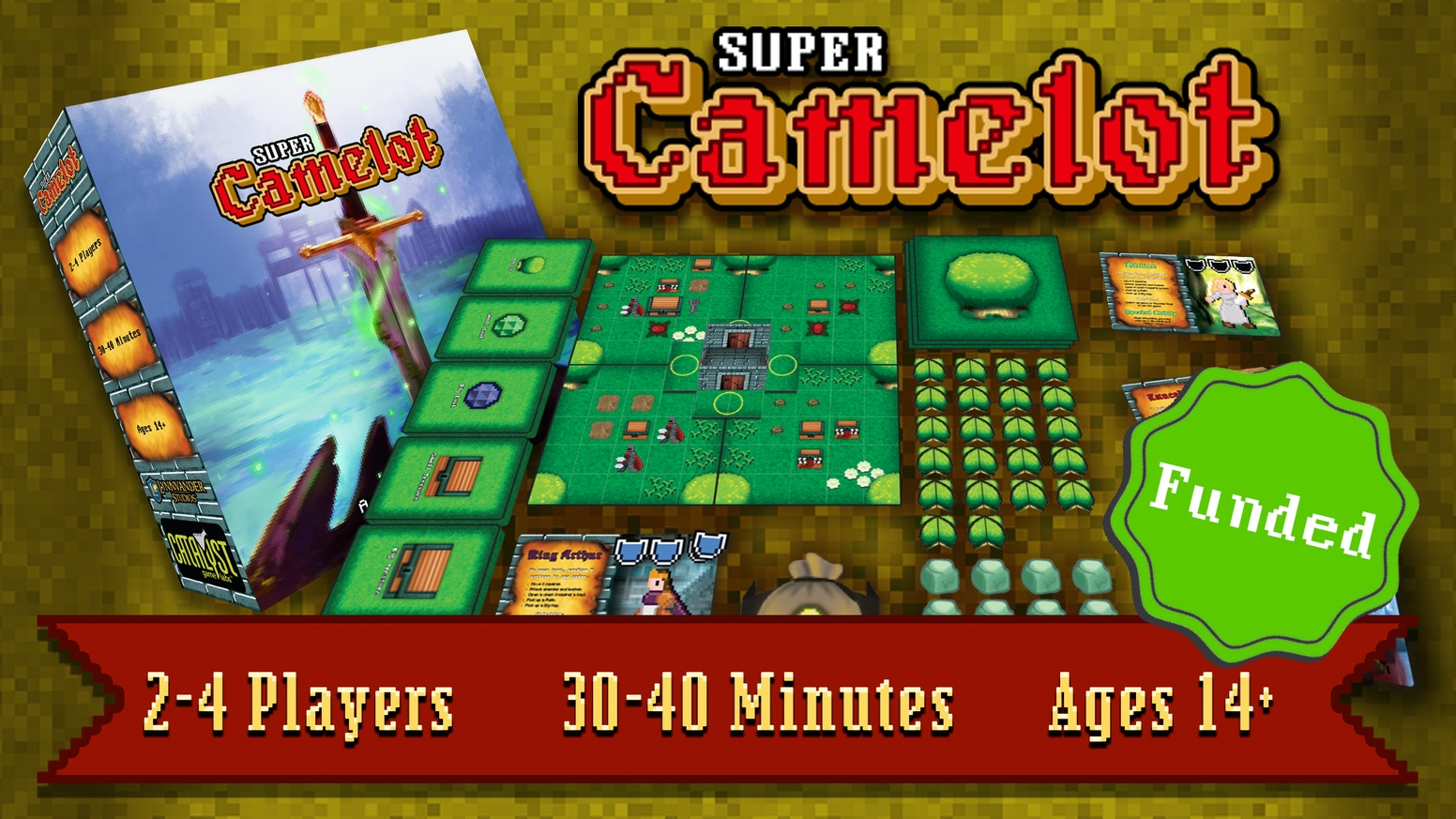 Super Camelot The 16 Bit Adventure Board Game By Catalyst Games Mosquito Killer Lamp Control Circuit Processin