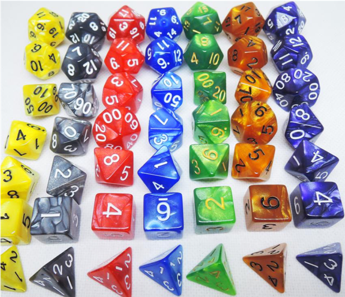 Marble dice options