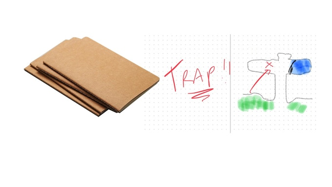 Keep track of important stuff - like where the trap is!