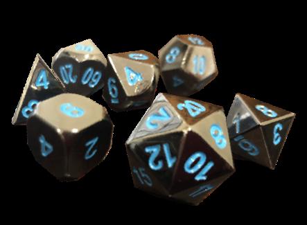 Arcanian forged metal dice set