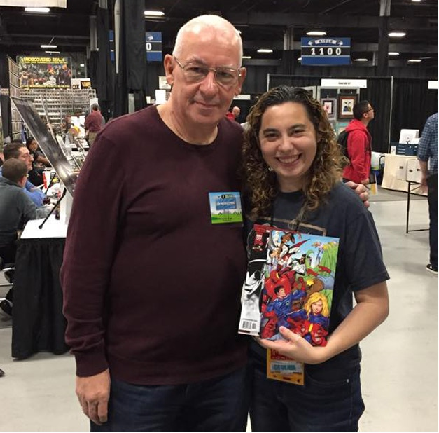 Kathryn with Tom Defalco (Writer of Spider-Girl for Marvel)
