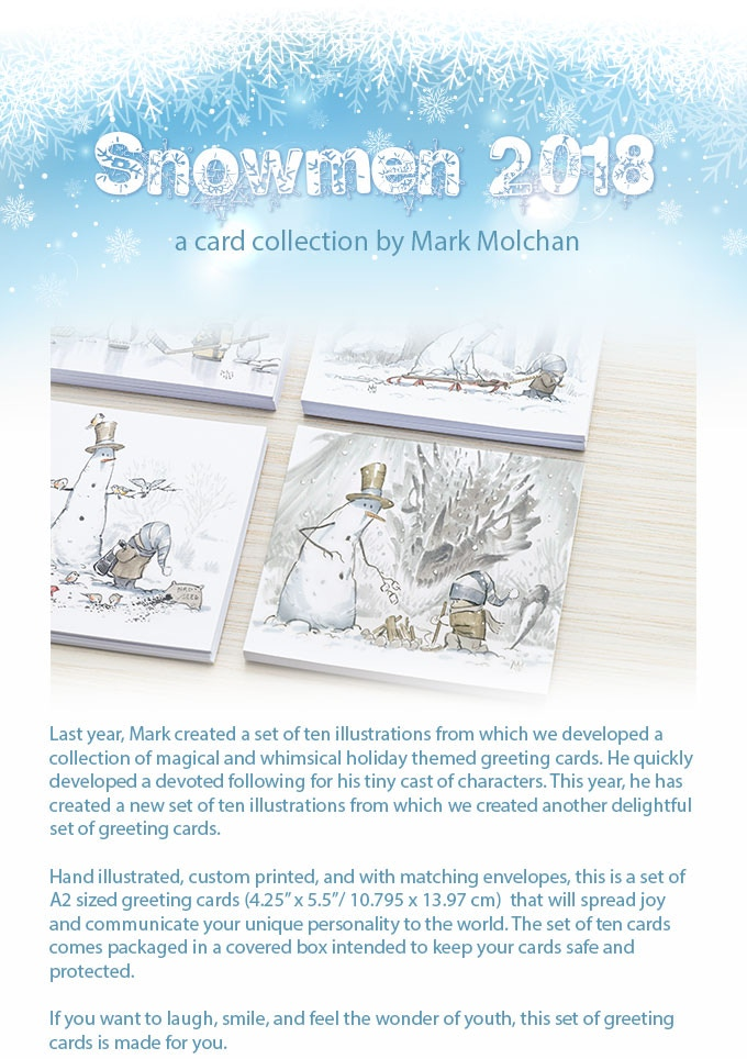 2018 snowman greeting card collection by artorder kickstarter backers m4hsunfo