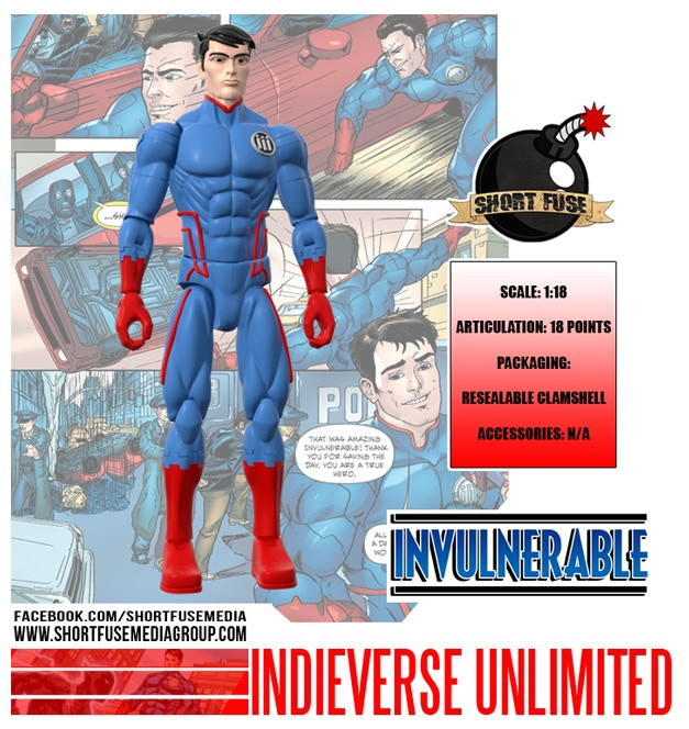 Official Indieverse Unlimited Invulnerable Action Figure