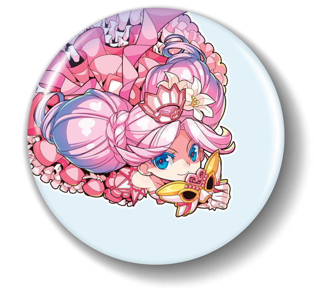3-inch high-grade, laser-cut button featuring the Princess