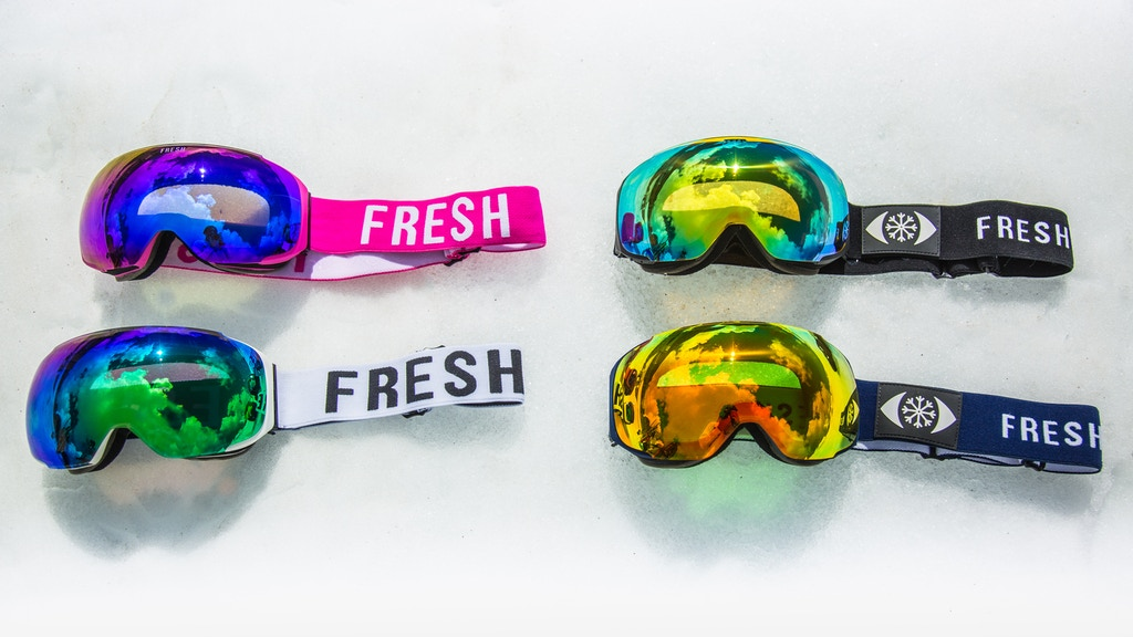 Customizable Magnetic Snow Goggles by Fresh Goggles