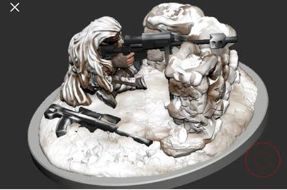 This beauty is perfect for punching through hard cover, light vehicles, and seeing the enemy through thin walls and at night. The enemy will have nowhere to hide, and incase they do manage to get close, he has his assault rifle waiting at his side.