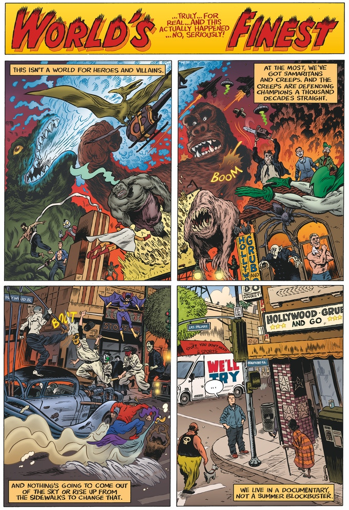 Real-Life World's Finest, by Patton Oswalt, Troy Nixey, and Michelle Madsen