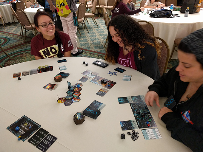 Having fun at Dice Tower Con 2018!