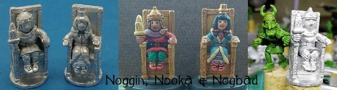 Noggin and Nooka enthroned