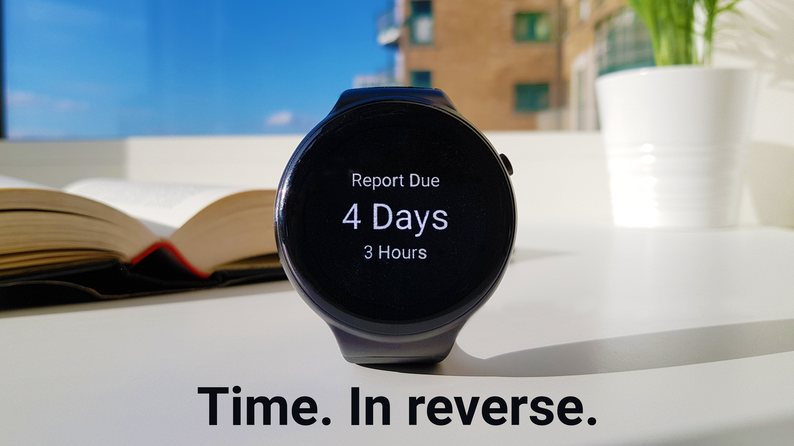A watch dedicated to improving your mindset on time. emit shows you countdowns to your most important events, tasks and goals.
