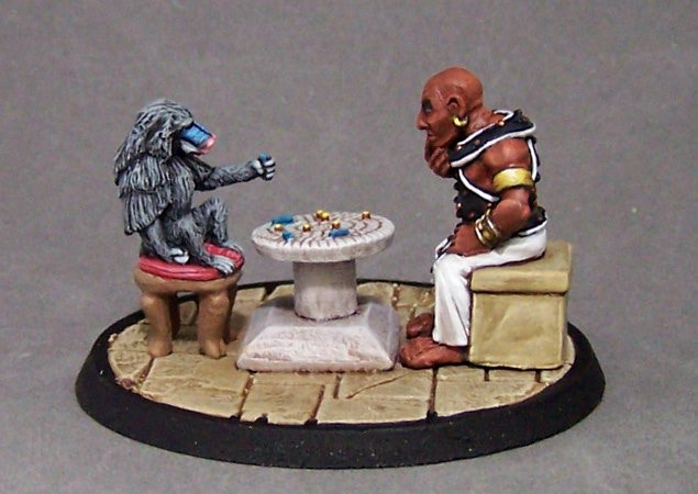 6.  Mehen Game:  Learned Baboon (Thoth?) and Eunuch