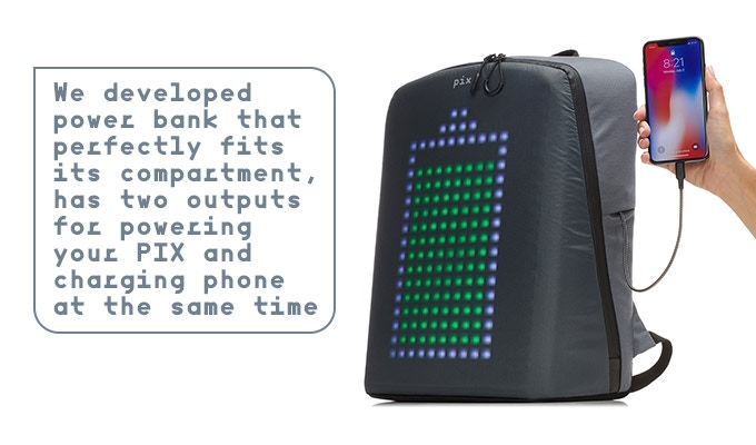 4d1c43378 Simply add a Power Bank to your pledge and we ll deliver it to you with PIX  backpack.