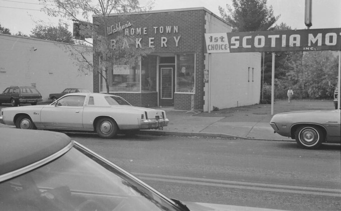 Former Home Town Bakery at 109 Mohawk Ave. in Scotia, future home of Storied Coffee. Photo by Woody
