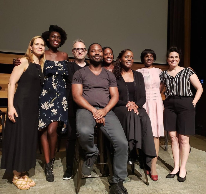 Creator-in-Residence Julia Kwamya and the cast of Intimate Apparel