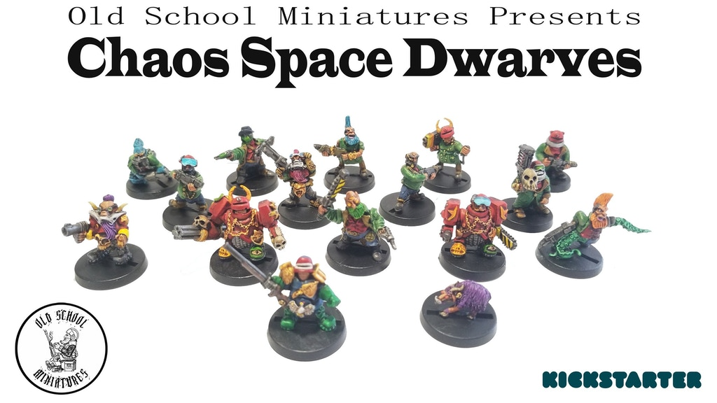 Project image for Chaos Space Dwarves (and a goat) from Oldschool Miniatures