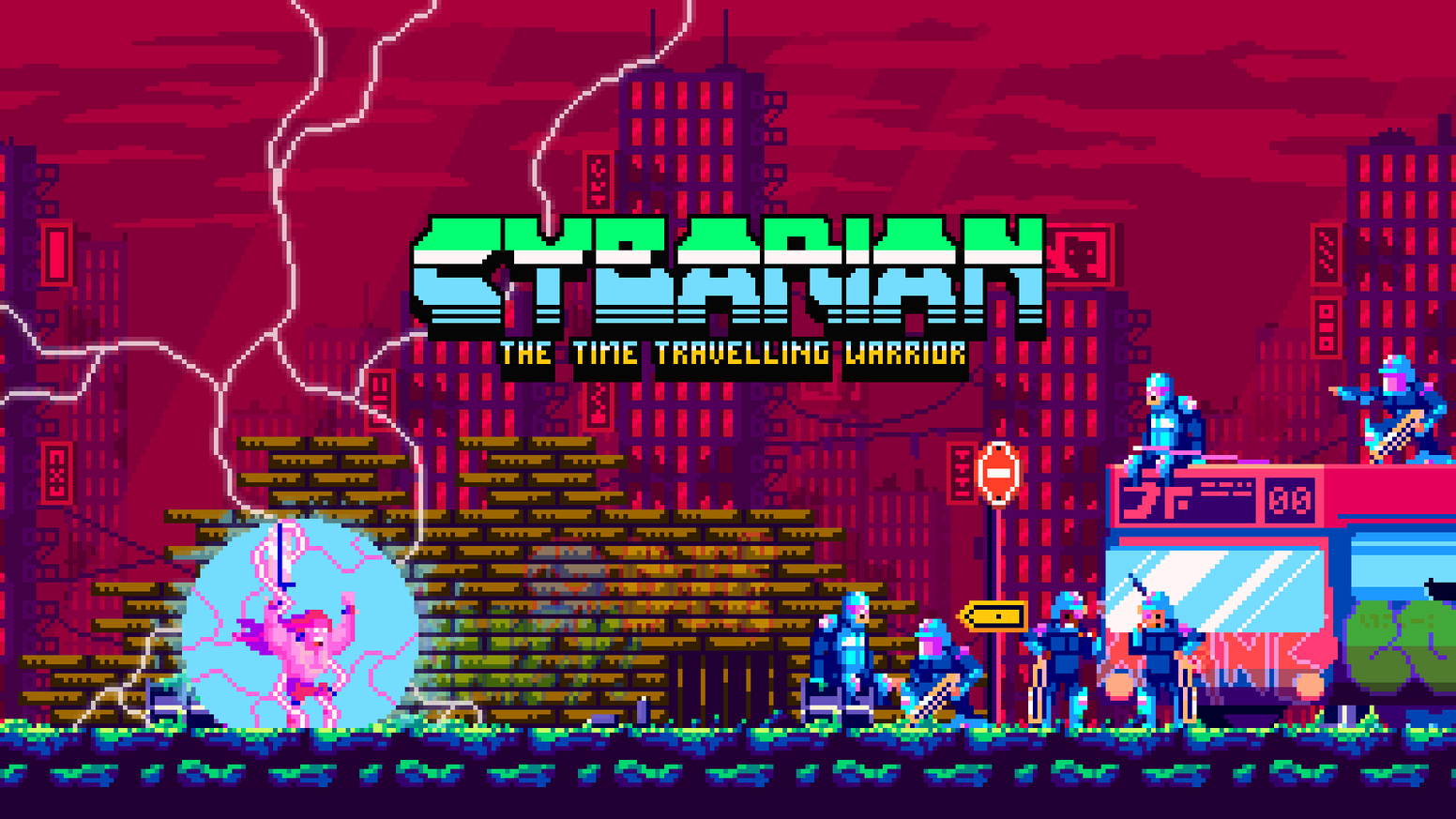 Cybarian is an action packed sword swinging 2d side scrolling adventure game. Created with a retro look and modern mechanics.