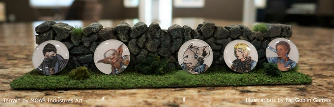 5 Tactical Tokens line the wall.