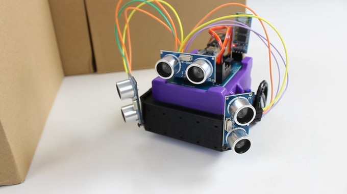 The Sensor Skirt with Several Extra Distance Sensors