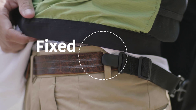 you can also clip to front/rear pocket