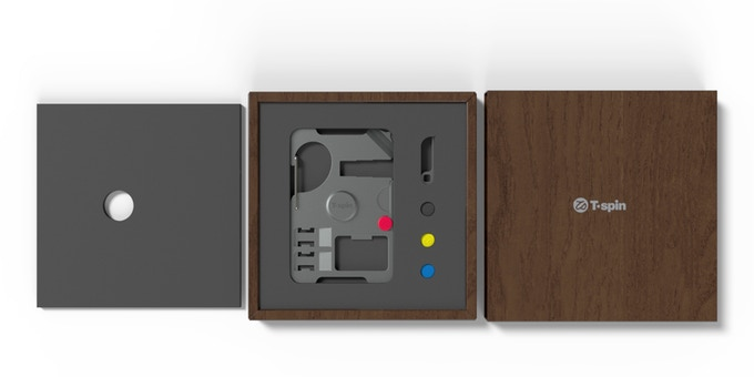 Render of T'spin packaging design