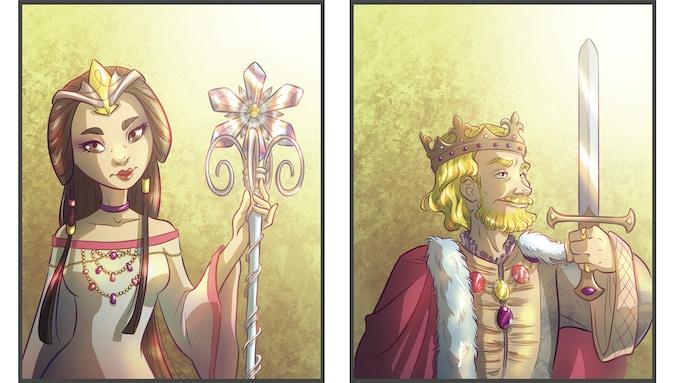Queen Priscilla and King William, divorced parents