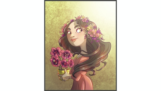 Princess Nora and her magical Mad Flowers (an example of Barking Roses)