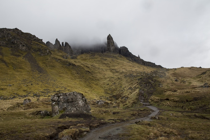 The Old Man of Storr, Isle of Skye. Such mood. Photo by Tim Archibald
