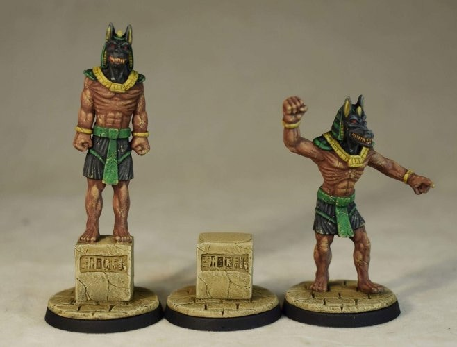 Anubis Statues and Plinths
