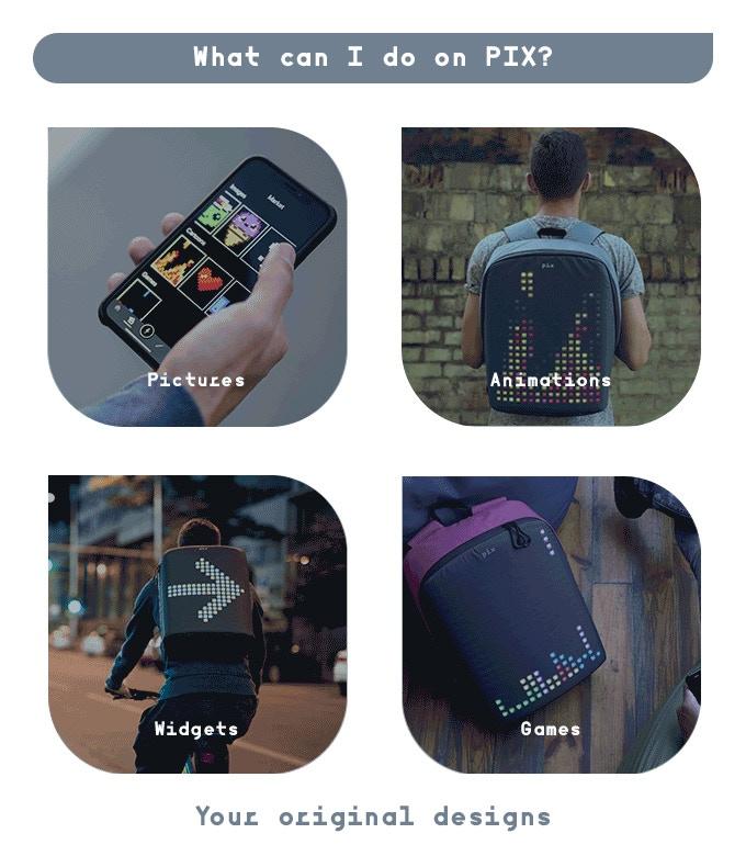 PIX backpack pics