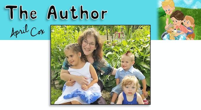 April M. Cox with her grandkids Bella (5), Jackson (3) and Kairi (2)