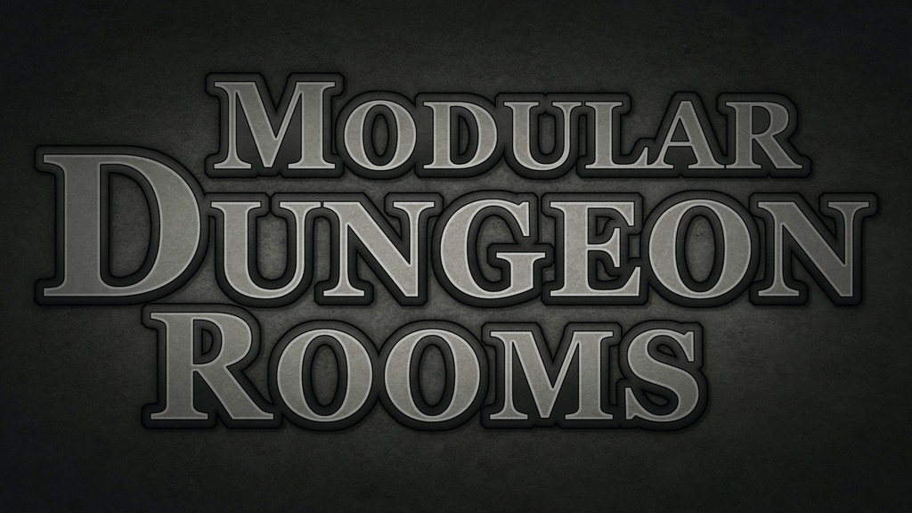 Modular Dungeon Rooms for tabletop role-playing games project video thumbnail