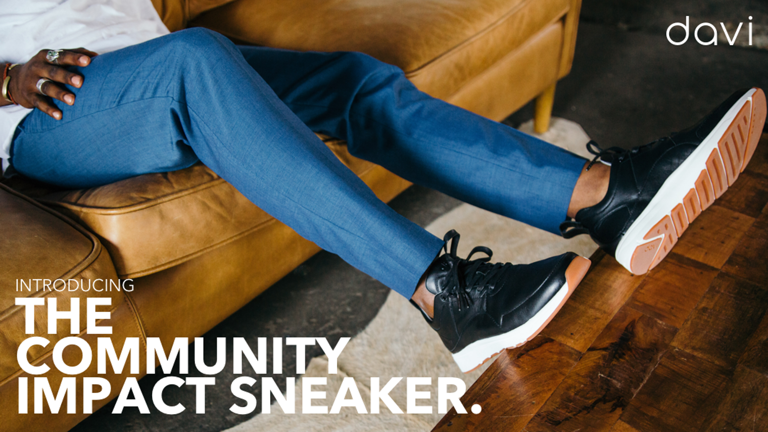Davi is a transparent, socially responsible sneaker company that supports community art and athletics programs in need.