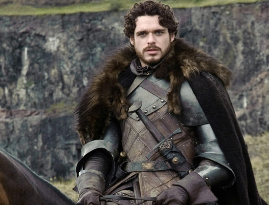 Robb Stark looking great in leather and fur. © HBO
