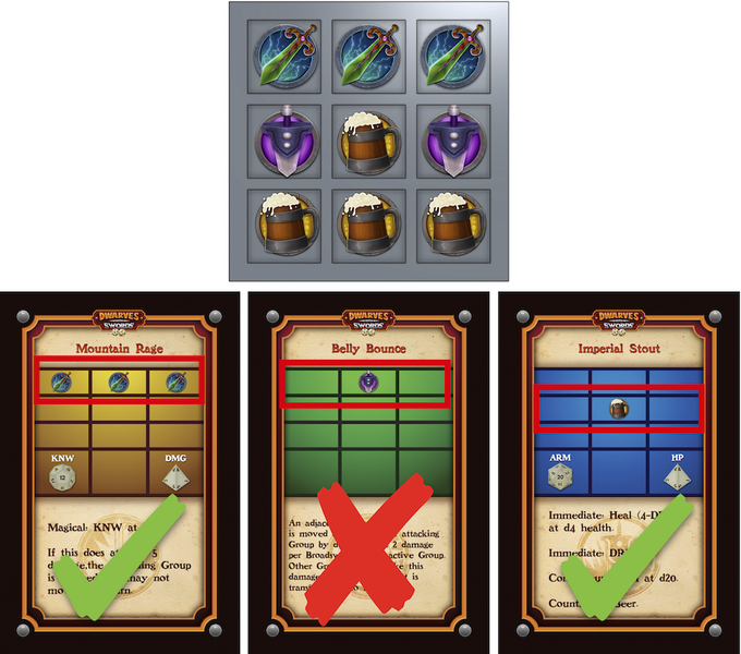 Examples of Action Cards the Formation Can and Cannot Use