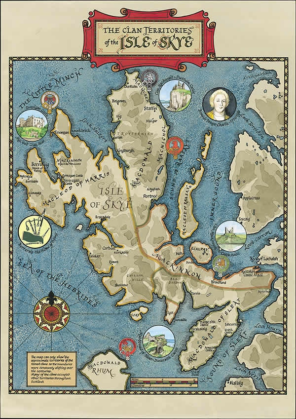 Just like Middle Earth, or Westeros, Skye has a badass old-looking clans map as well. © Border Art 2018