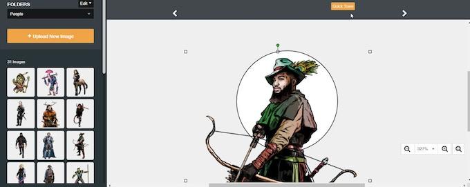 Prototype of the custom token designer for TacticalTokens.com