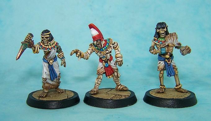 25. Mummy Pharaoh and Skeletal Attendants