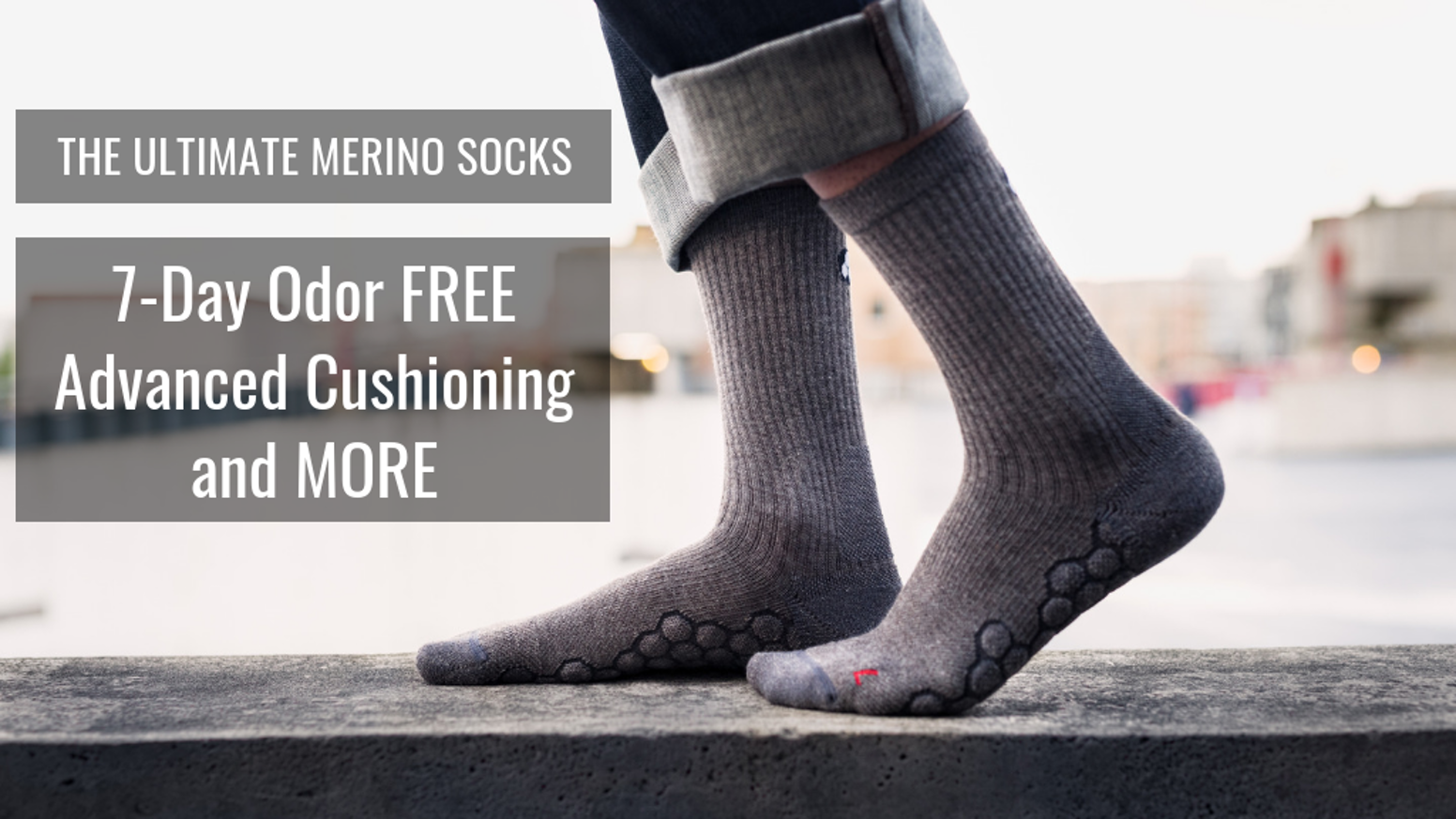 Our Elevated Merino Socks combine technical materials that combat harsh outdoor conditions of rustic environments and urban cityscapes.