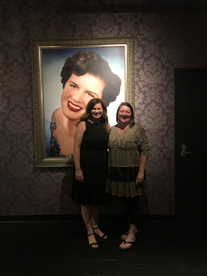 Meeting Patsy Cline's daughter, Julie, in Nashville at the Patsy Cline Museum! (August, 2018)
