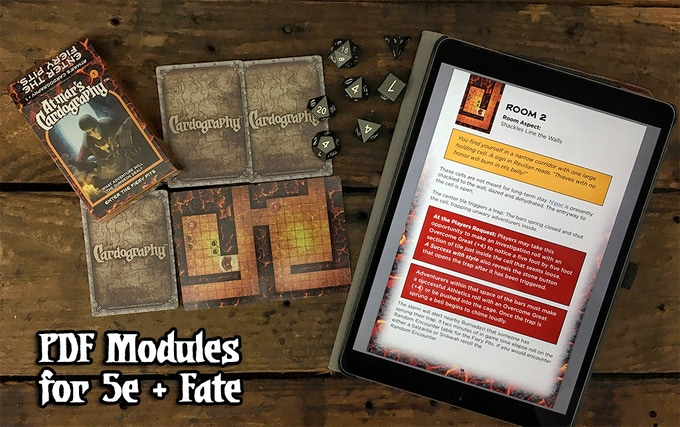 Kickstarter tessera guild each deck has downloadable pdfs of full adventure modules for both 5e and fate with new never before seen monsters magic items and npcs to help add more fandeluxe Image collections