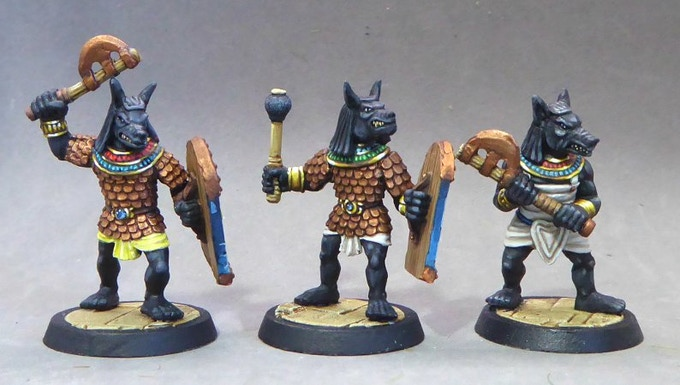 38. Anubis Warriors IV (Axes and Mace)