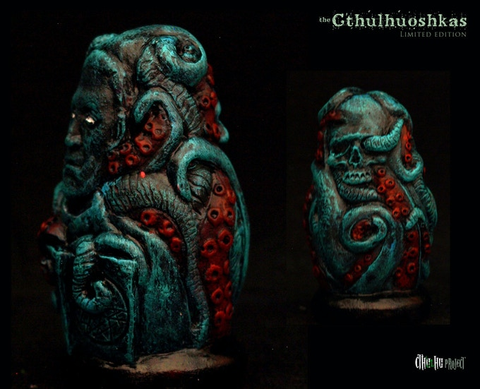 Lovecraft, side and back views