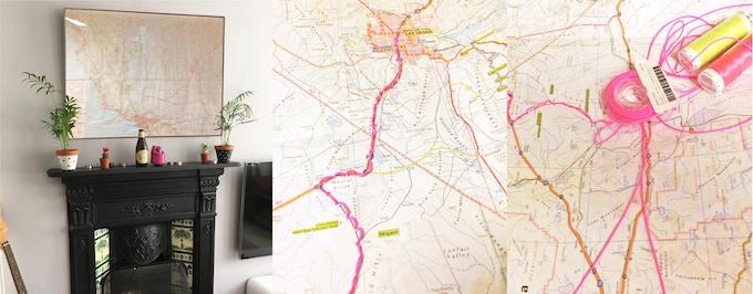 My stitched USA road map