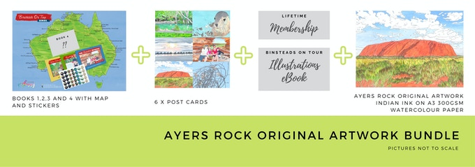 $400 Ayers Rock Original Illustration Bundle
