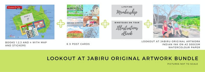 $400 Lookout at Jabiru Original Illustration Bundle