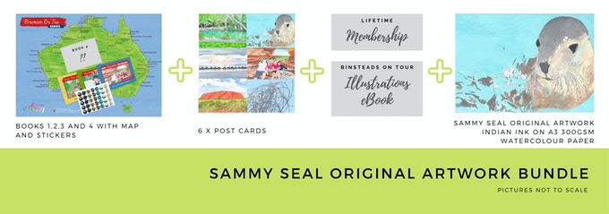 $400 Sammy Seal Original Illustration Artwork