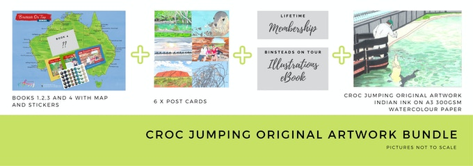 $400 Croc Jumping Original Illustration Bundle