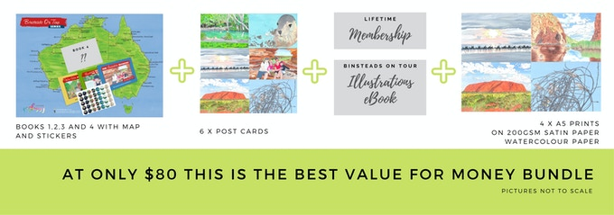 $80 Best Value First 4 Books, Map, Stickers and More