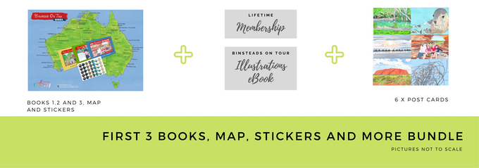 $75 Early Bird First 3 Books, Map and Stickers Bundle