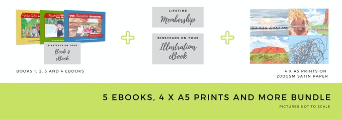 $40 5 eBooks, 4 x A5 Prints and More Bundle